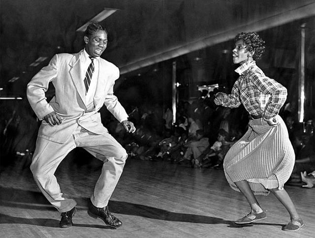 Swing Dance at Savoy Ballroom 1940s