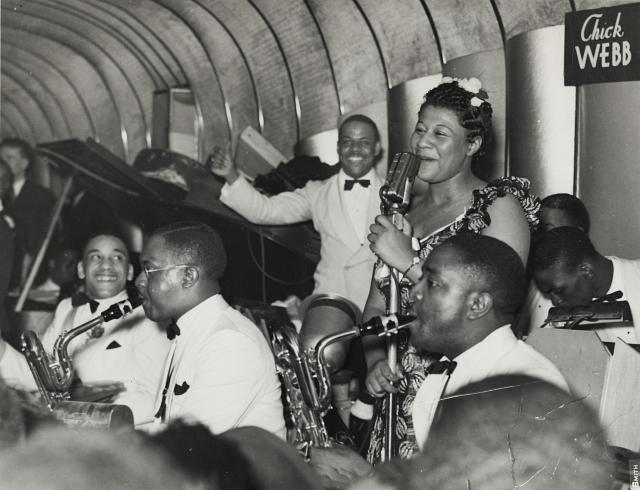 Ella Fitzgerald and Chick Webb at Savoy Ballroom 1940s