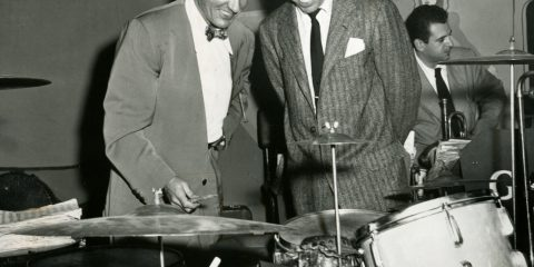 Gene Krupa and Buddy Rich