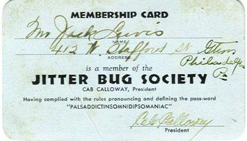Jitter Bug Membership Card