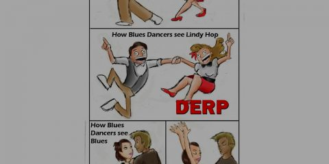 How Lindy Hoppers seen Blues Dancers