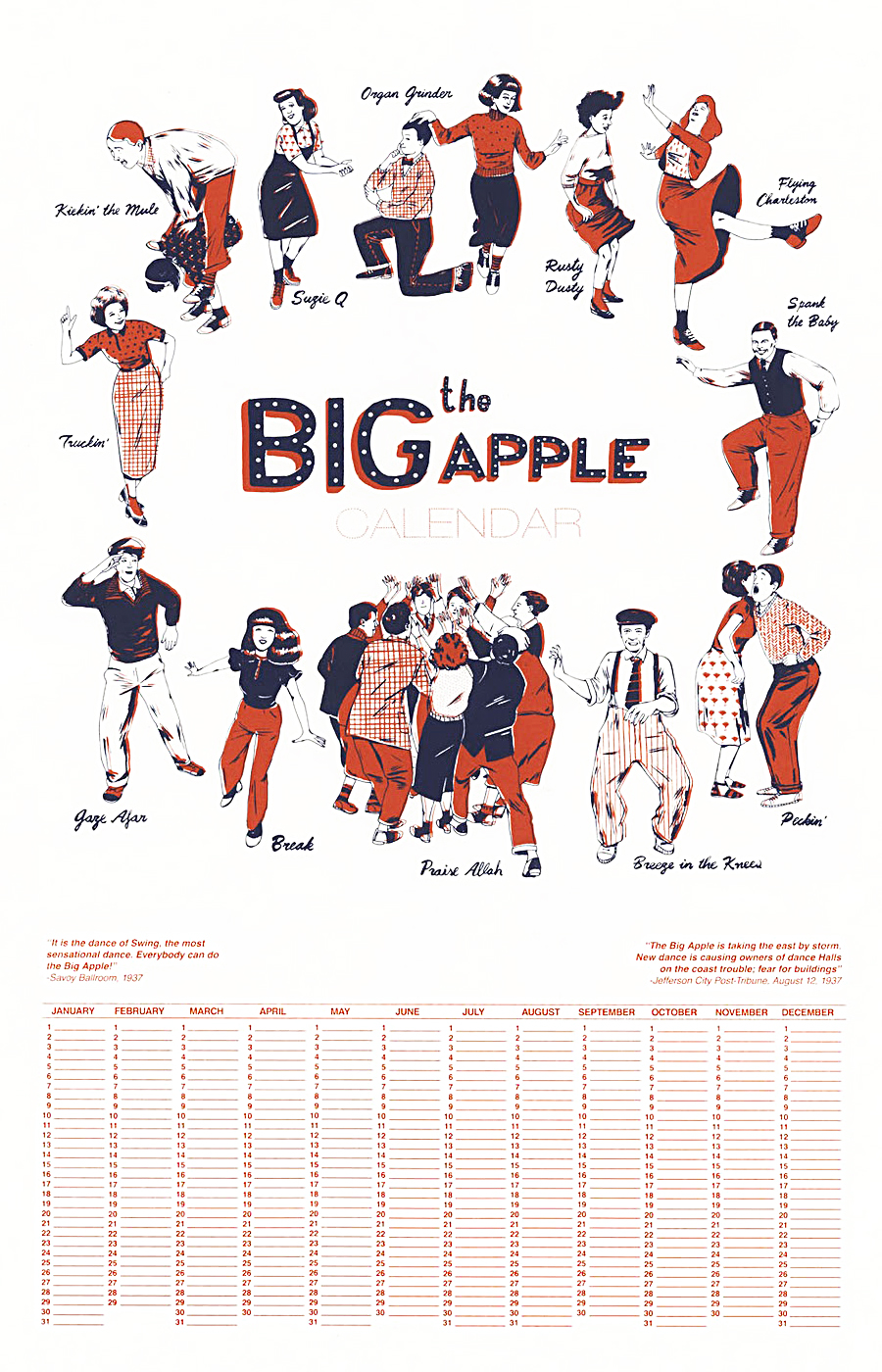 The Big Apple Calendar