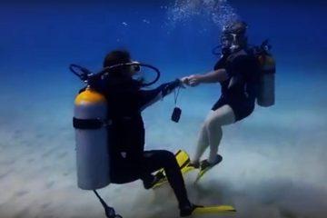 Underwater Lindy Hop